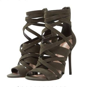 Aldo Kelany Strappy Suede Leather Heels